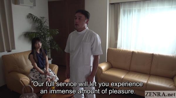 japanese wife contemplates erotic massage