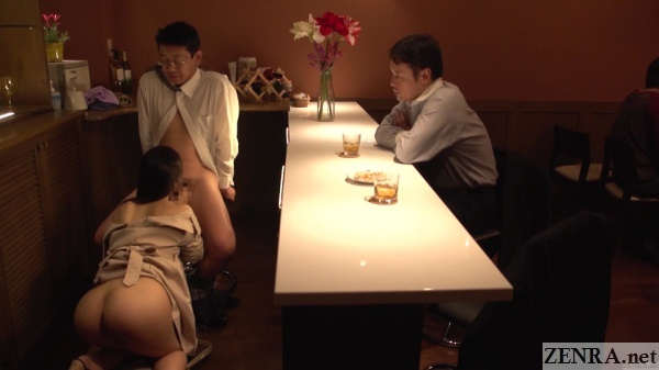 blowjob at japanese bar by unfaithful wife