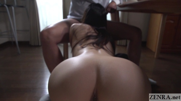 naked wife blowjob from behind