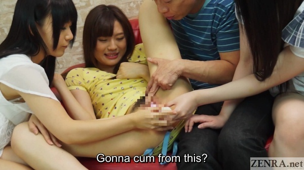 jav amateur orgasming while friends watch and help
