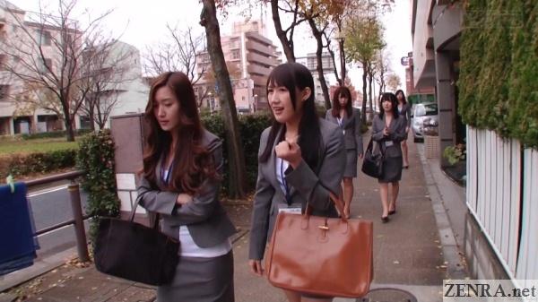 new hire japanese insurance saleswomen