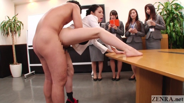 new japanese employees watch office sex
