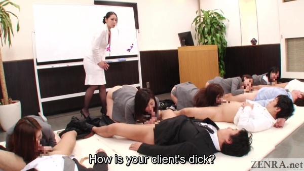 japanese office blowjob sex party