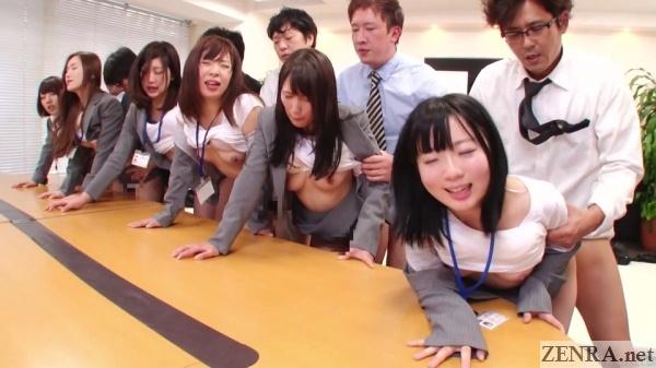 huge orgy jav office