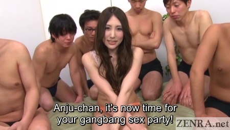 gangbang sex party begins for anju kitagawa