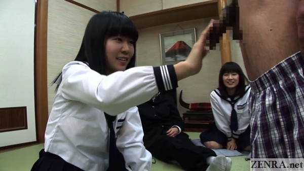 cfnm takazawa saaya touching erection