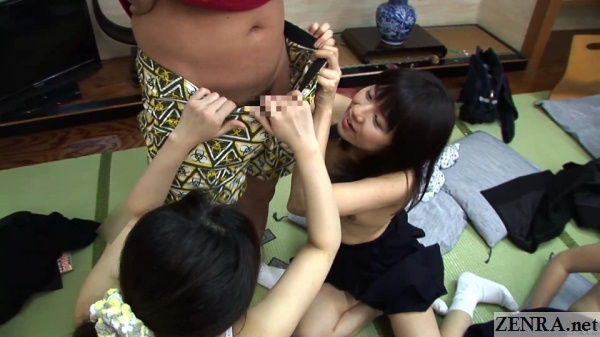 topless schoolgirls strip classmate