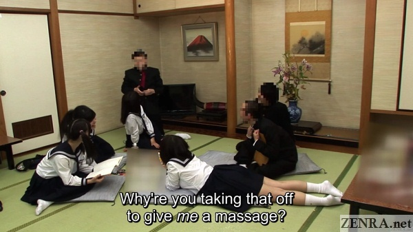 naughty massage for schoolgirl during ryokan party