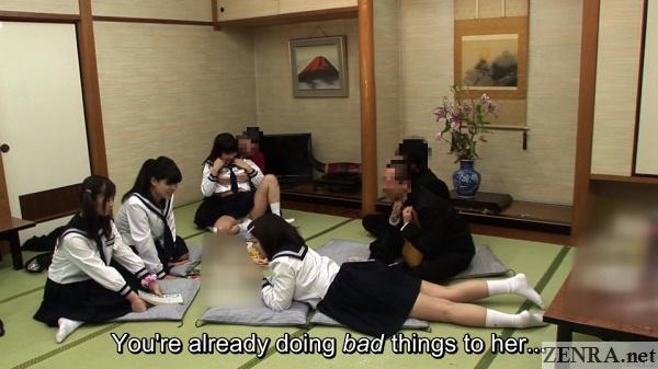 breast massage for jav schoolgirl friends watching