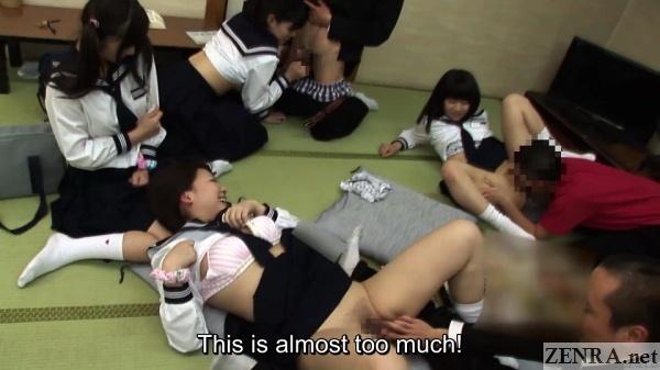 schoolgirl orgy club japan