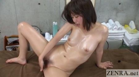 masturbating japanese college student after massage