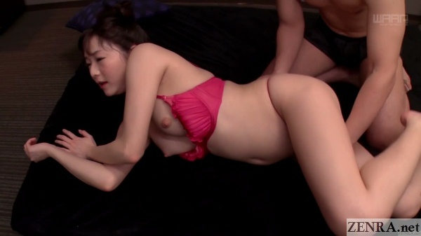 half stripped ayane suzukawa eager for sex
