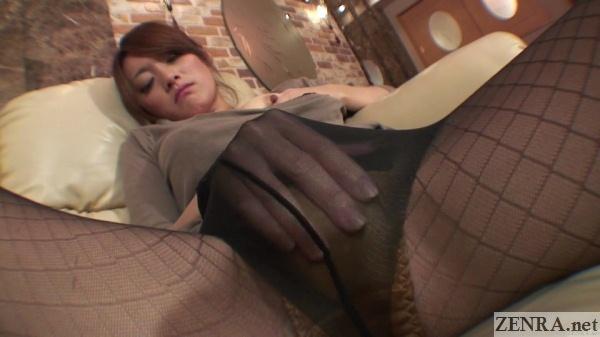 cose up jav amateur spread legs starts masturbating
