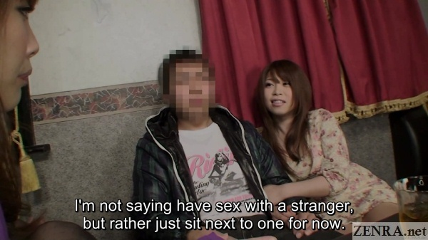 japanese couple first time at swingers club