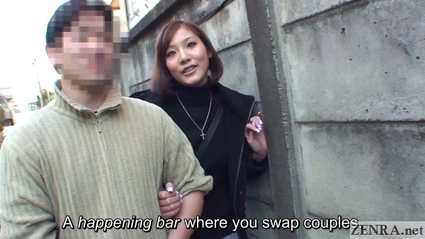 real jav couple street interview for swingers club