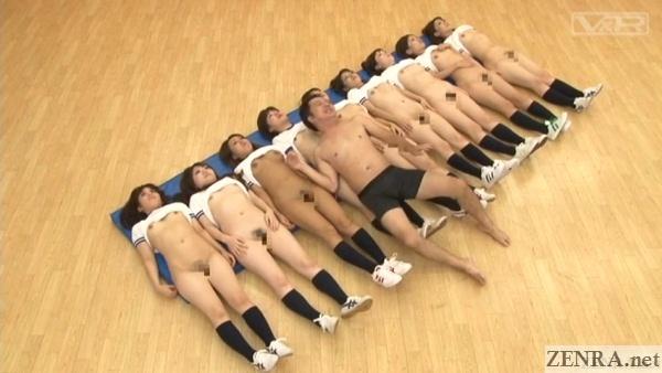 naked schoolgirl supine lineup harem