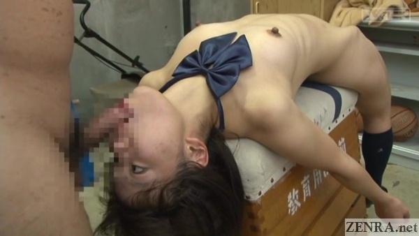 bizarre japanese schoolgirl blowjob