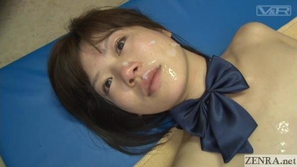 cum facial jav schoolgirl close up