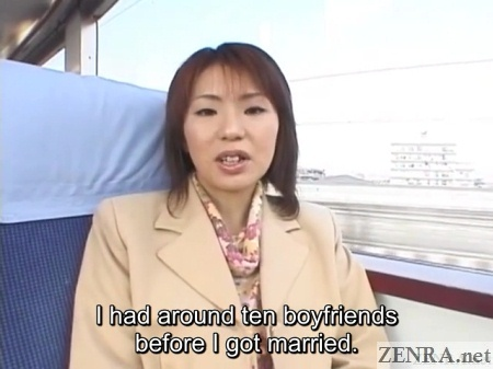 japanese wife interview on train about boyfriends