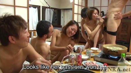 crazy jav indoor bbq sex party