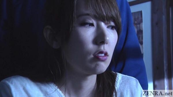 hatano yui nighttime at abandoned village face close up