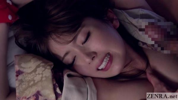yui hatano dramatic foreplay face close up