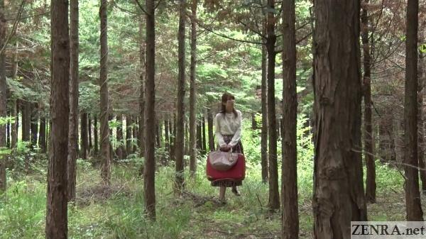 hatano yui alone in forest