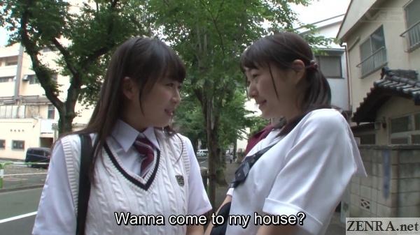 japanese schoolgirl outdoor reunion