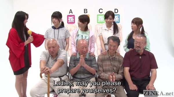 old men for private parts guessing game