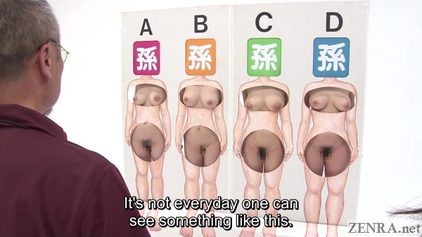 wall of naked japanese women guessing game