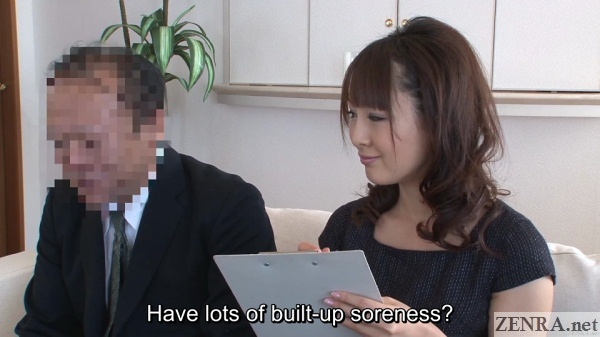 japanese couple interview before massage