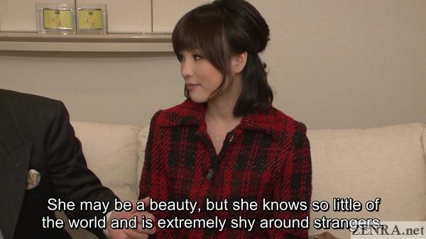 cute japanese woman first massage interview