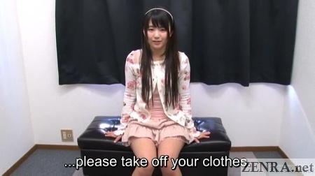 jav star kimura tsuna asked to strip