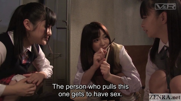 japanese schoolgirls draw straws for sex