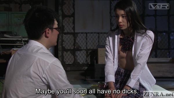 bizarre schoolgirl conversation after sex