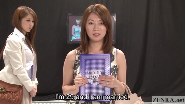 married japanese woman about to play debt payback game