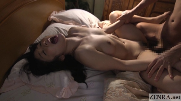 hibiki otsuki missionary sex mouth open wide