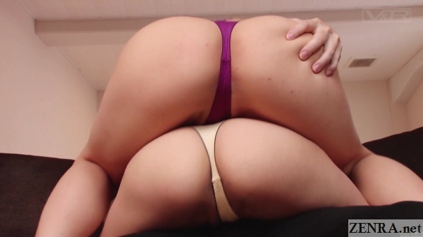pile of japanese butts in thongs