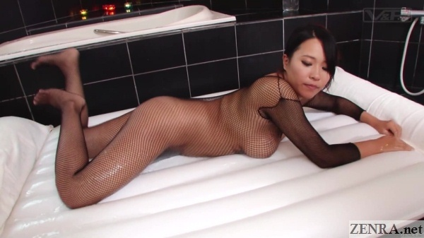 fishnet soapland mat lotion prep