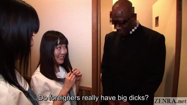 jav schoolgirls with black foreign student in bathroom
