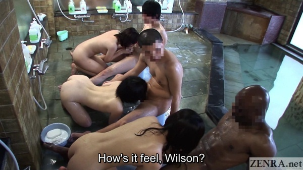 jav schoolgirl bathhouse blowjob party with foreign student