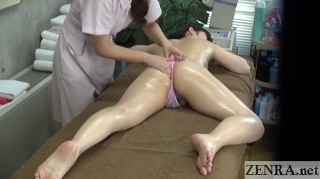 prone cfnf oiled up jav lesbian massage
