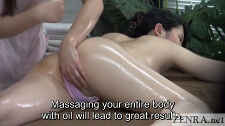 masseuse treating inner thighs close up