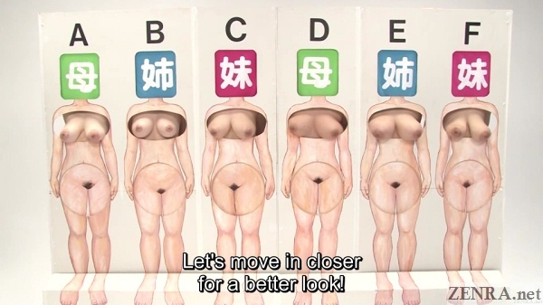 extra large contestants guessing game jav