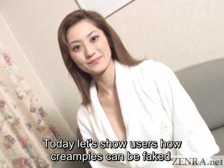 interviewing jav star about fake creampie