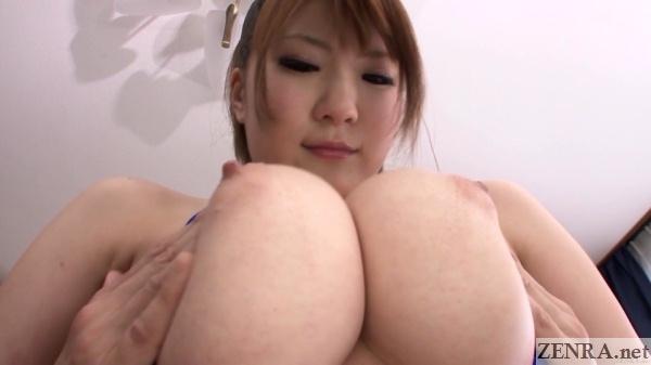 huge tits squeezing close up momoka nishina