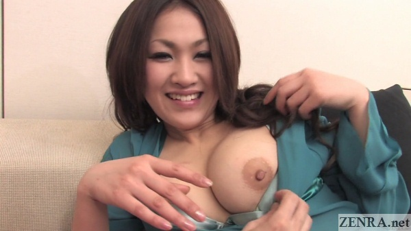 exposing perfect nipple of japanese gyaru