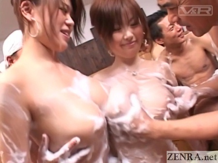 big soapy japanese breasts