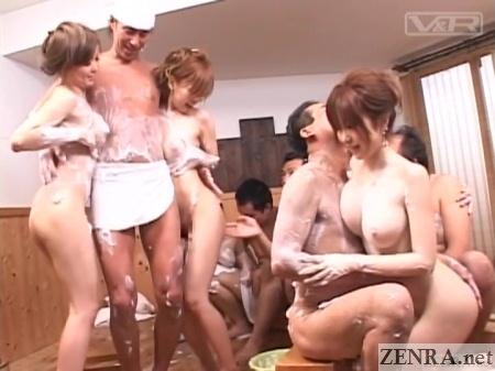 huge breasts mixed jav bathing