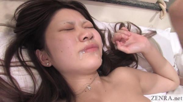 japanese amateur with cum on face